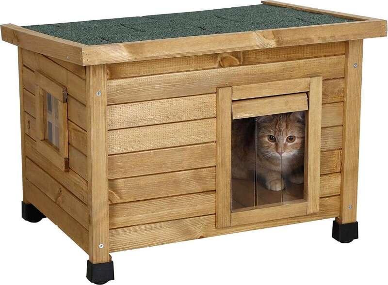 1. Rexa® Kattenhuisje van dennenhout_800